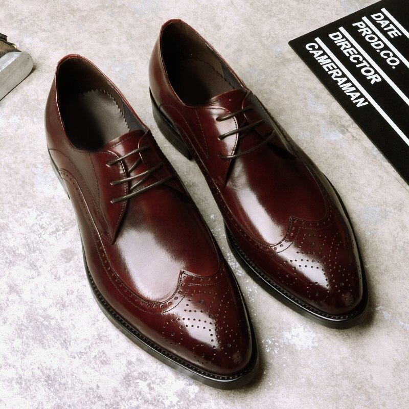 Cuir Chaussures En D'affaires Pointu Dentelle wine up Hommes Oxford Formelle Causal Bout Classique Homme Respirant Black Robe q1dIWnUBwB