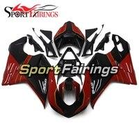 Впрыска ABS полный обтекатель комплект для Ducati 1098 848 1198 год 2007 2008 2009 2010 2011 2012 мотоцикл кузова красные, черные корпусов