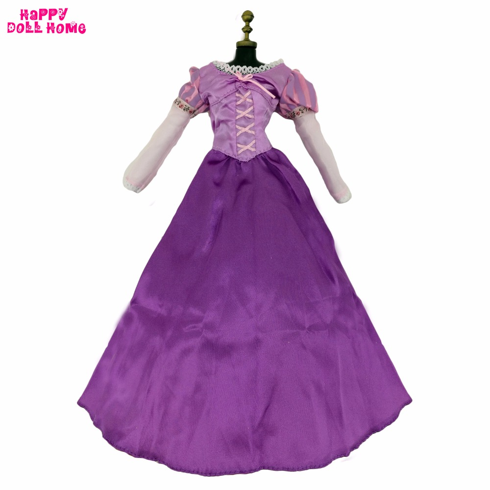 Handmade Similar Tangled Dress Fairy Tale Princess Rapunzel Costume Purple Long Sleeve Clothes For 17 Doll Accessories Gift Toy светильники trousselier абажур princess fairy 34х22 см