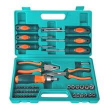 Набор инструментов Sturm! 1040-02-SS7 (45 предметов, отвертки, биты, торцевые головки, плоскогубцы, тонкогубцы)
