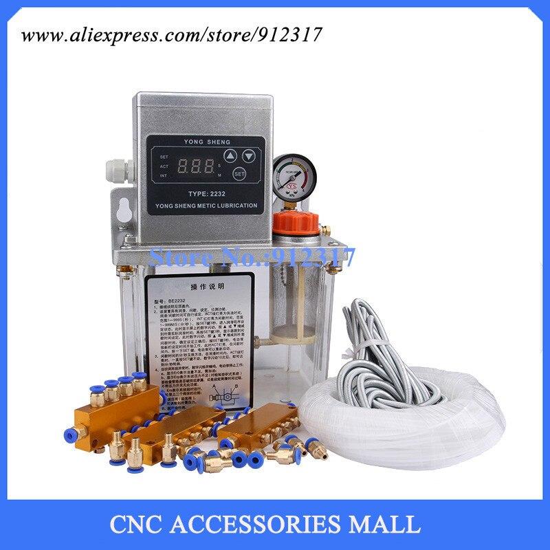 Buy Full set 2L Fully Automatic Lubrication Pump 220v Single screen Oil  Lubrication Pump CNC machine