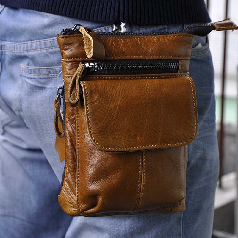 100% Genuine Leather men bag vintage small messenger bags mini luxury men shoulder bags retro Casual mens Crossbody bag