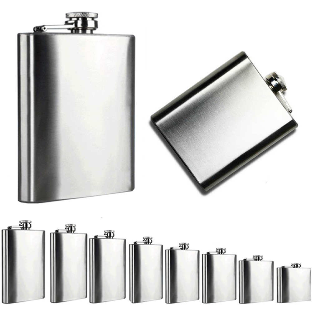 10oz Stainless Steel Pocket Hip Flask Alcohol Whiskey Liquor Screw Cap Best S UK