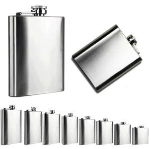 Portable Stainless Steel 5 sizes Pocket Hip Flask Alcohol Whiskey Liquor Screw Cap + Funnel Portable Flagon Bottle Hip Flask H5