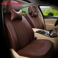 CARTAILOR Automobiles Seat Covers for Toyota Land Cruiser Prado Car Seat Cover Leather Cars Cowhide Seats Cushions Protector Set