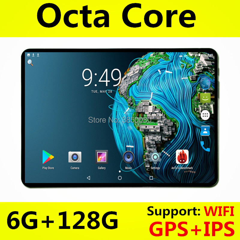 10.1' Tablets Android 8.0 Octa Core Ram 6GB ROM 64GB Dual Camera 8MP Dual SIM Tablet PC Wifi GPS Bluetooth Phone