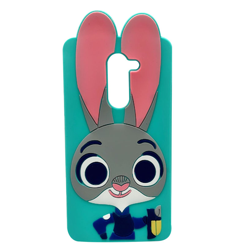 For Huawei Honor 6X Case 3D Silicon Minnie Rabbit Cat Cartoon Soft Phone Back Case Cover For Huawei GR5 Ca'Se Mate 9 Lite