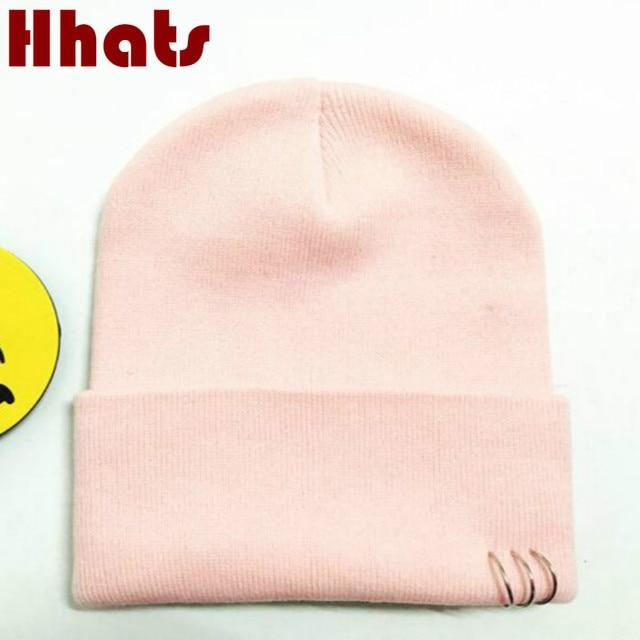 which in shower women men hip hop skullies beanie ring plain knitted autumn winter  hat male ddb730b3cb2