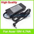 19 В 4.74A 90 Вт Ноутбук зарядное устройство AC адаптер питания PA-1900-05 для Acer Aspire 1452 1454 1640 Z 1641 1642 1650 1651 1652 1654 1680