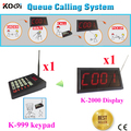 Customer Waiting Queue System For Restaurant Order Services Easy Carry Wireless Pager Customer Waiting Call (1 display+1 keypad)