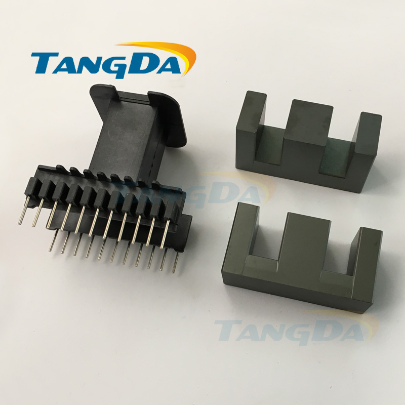 цена на Tangda EE55B ( EE55 ) core EE Bobbin magnetic core + skeleton 11+11 pin 22p Transformers ertical AG