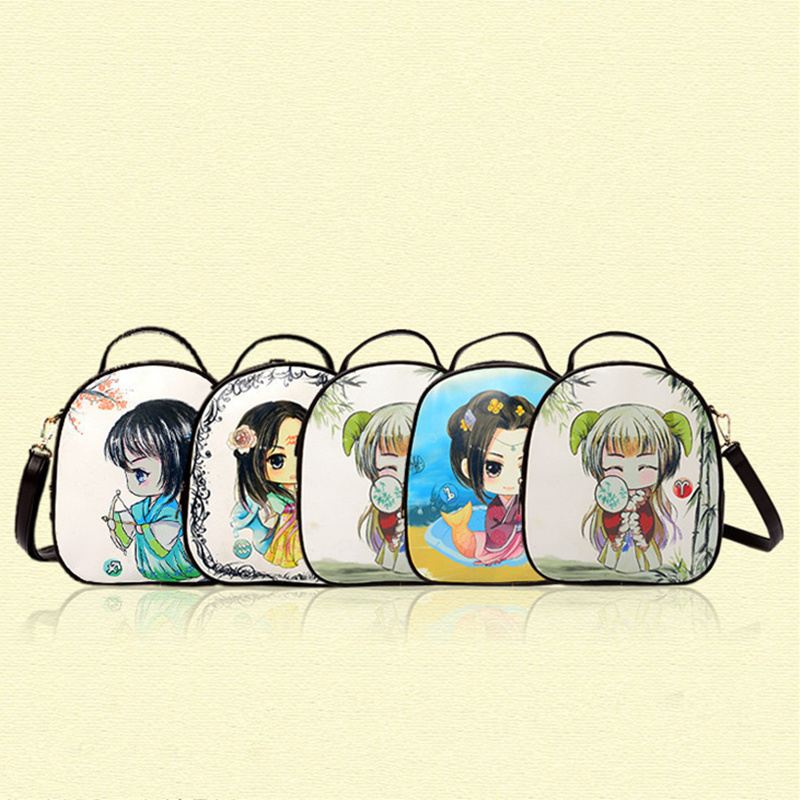 PU National Wind Schoolbag Twelve Constellations Zodiac Practical Traveling Backpacks Bag Women Shoulder Bag Crossbody