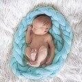 Newborn Baby Braid Wool Spinning Fiber Rugs Photography Photo Props String Blanket (blue) 400CM
