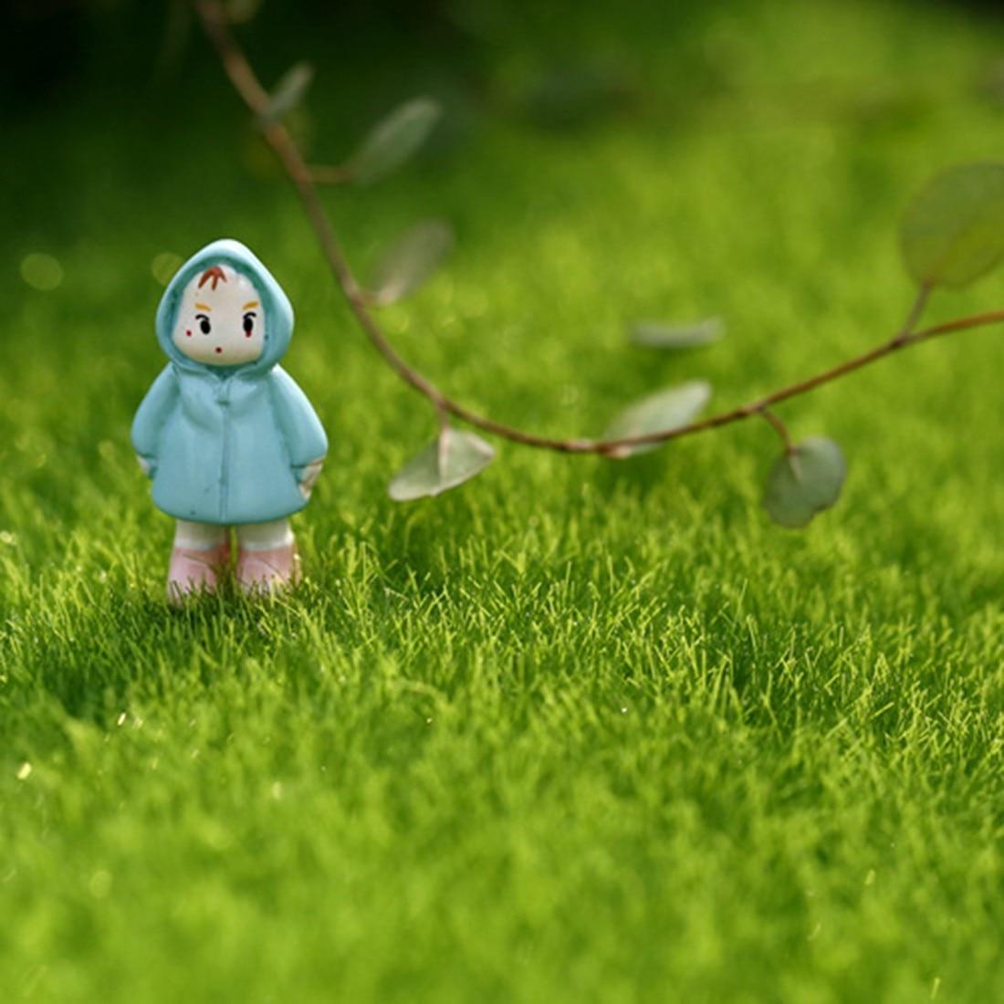 Fairy lawn ornaments - Fake Moss Miniature Garden Ornament Diy Mushroom Craft Pot Fairy Artificial Lawn Grass For Wedding Xmas