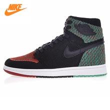 Nike Air Jordan 1 Retro High Flyknit BHM Men Basketball Shoes,Men Outdoor Sports Sneakers Shoes AA2426-026