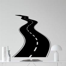 Creative Road Wall Decal Tire Tracks Highway Way Garage Vinyl Sticker DIY Living Room House Interior Decor Vinyl Stickers
