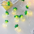 10 Pineapple Holiday String Lights Fairy LED Tropical Fruit Light Patio Lanterns Garden Lights Battery Powered Party 3V Indoor