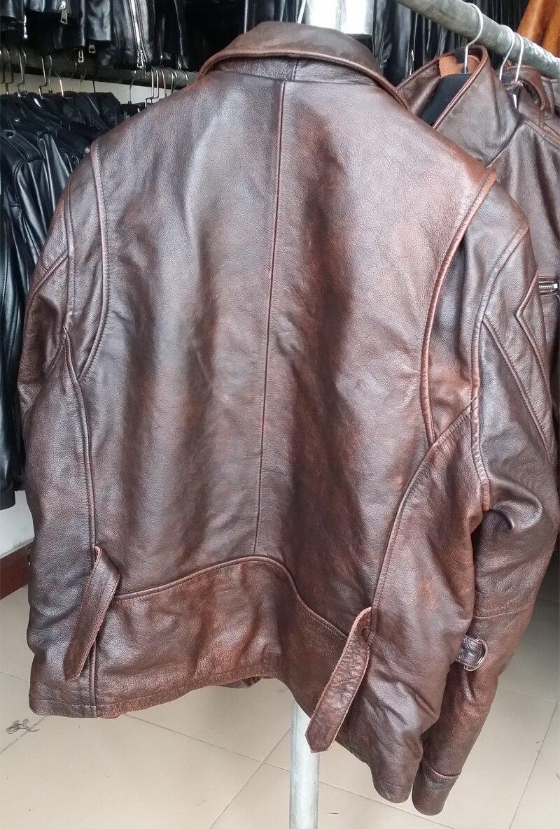 HTB1t1WqldcnBKNjSZR0q6AFqFXaN MAPLESTEED Brand Amekaji Motor Biker Style Men Leather Jacket Black Red Brown Cowhide Vintage Jackets Men Winter Coat 5XL M100