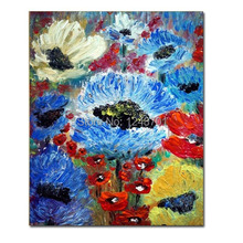 Hand Painted FLOWERS Impasto palette knife Oil Painting Spring Floral oil PAINTING Wall Decor