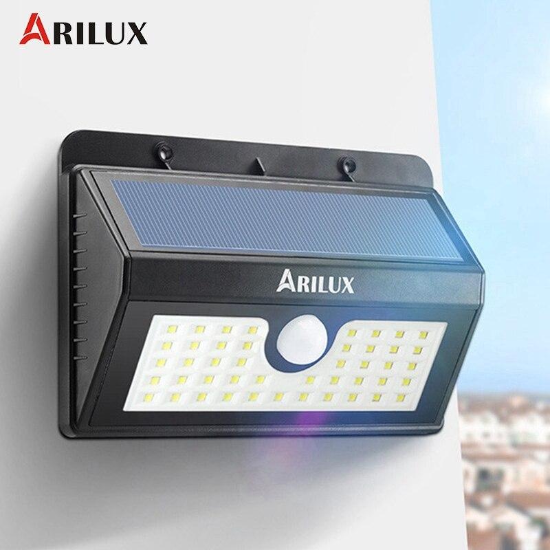 Arilux al-sl07 Водонепроницаемый IP65 45 светодиодный солнечный свет Беспроводной движения PIR Сенсор солнечные открытый светодиодный сад, свет, бра