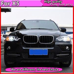 Image 3 - Araba Styling için BMW X5 e70 2007 2013 far BMW X5 kafa lambası otomatik LED DRL çift kiriş h7 HID Xenon bi xenon mercek