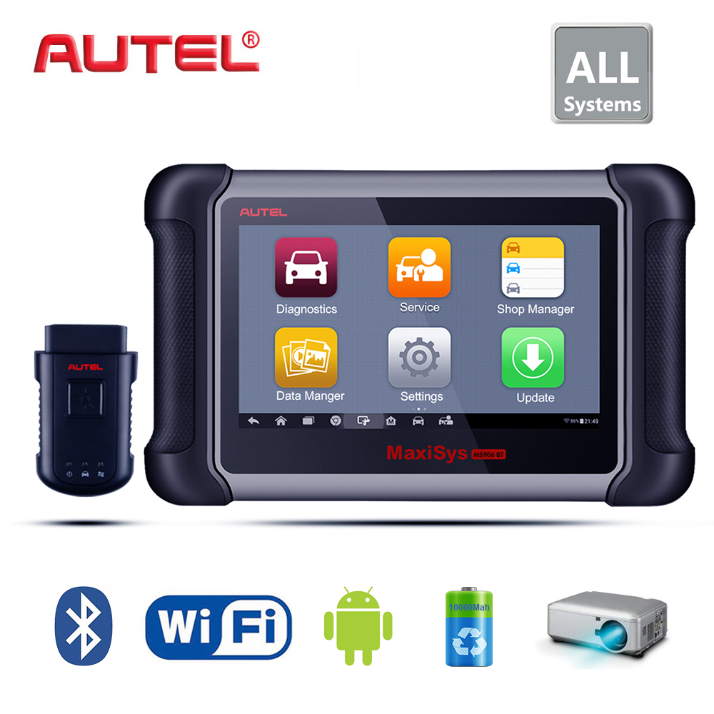 Autel Maxisys MS906BT wireless Car Diagnostic and Coding System Support Injector/Key Coding immobiliser Upgrade of MaxiDAS DS708