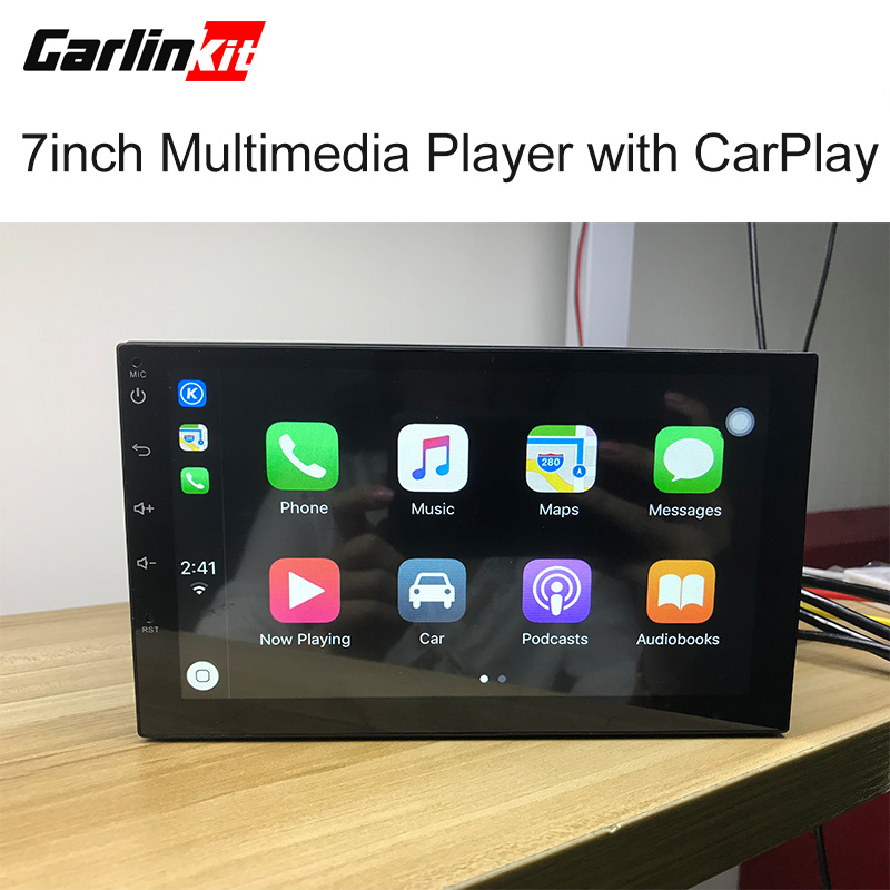 Carlinke 7inch Universal Android 7.0 System Car Radio Stereo Multimedia Player with iOS 12 Apple CarPlay Function Android Auto carlinke usb dongle apple ios carplay android auto with touch screen control for android car headunit