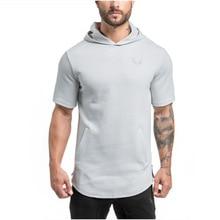 Professional Fitness Slim Sleeveless Hoodies Sweatshirt New 2016 Fashion Brand Clothing Zipper Hoodie Tracksuit Men High Quality