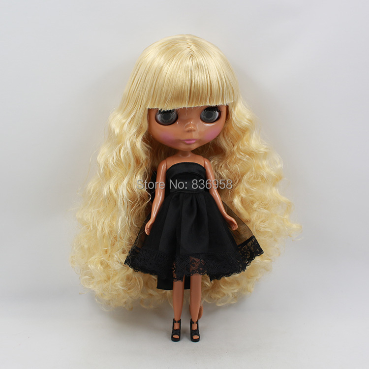 Toys & Hobbies Nude Doll Blyth Doll 30cm 1/6 Doll 300bl0519 With Bangs/fringes Neo Bjd With Blond Long Wavy Hair Dark Skin Gift Toy Normal Body Neither Too Hard Nor Too Soft