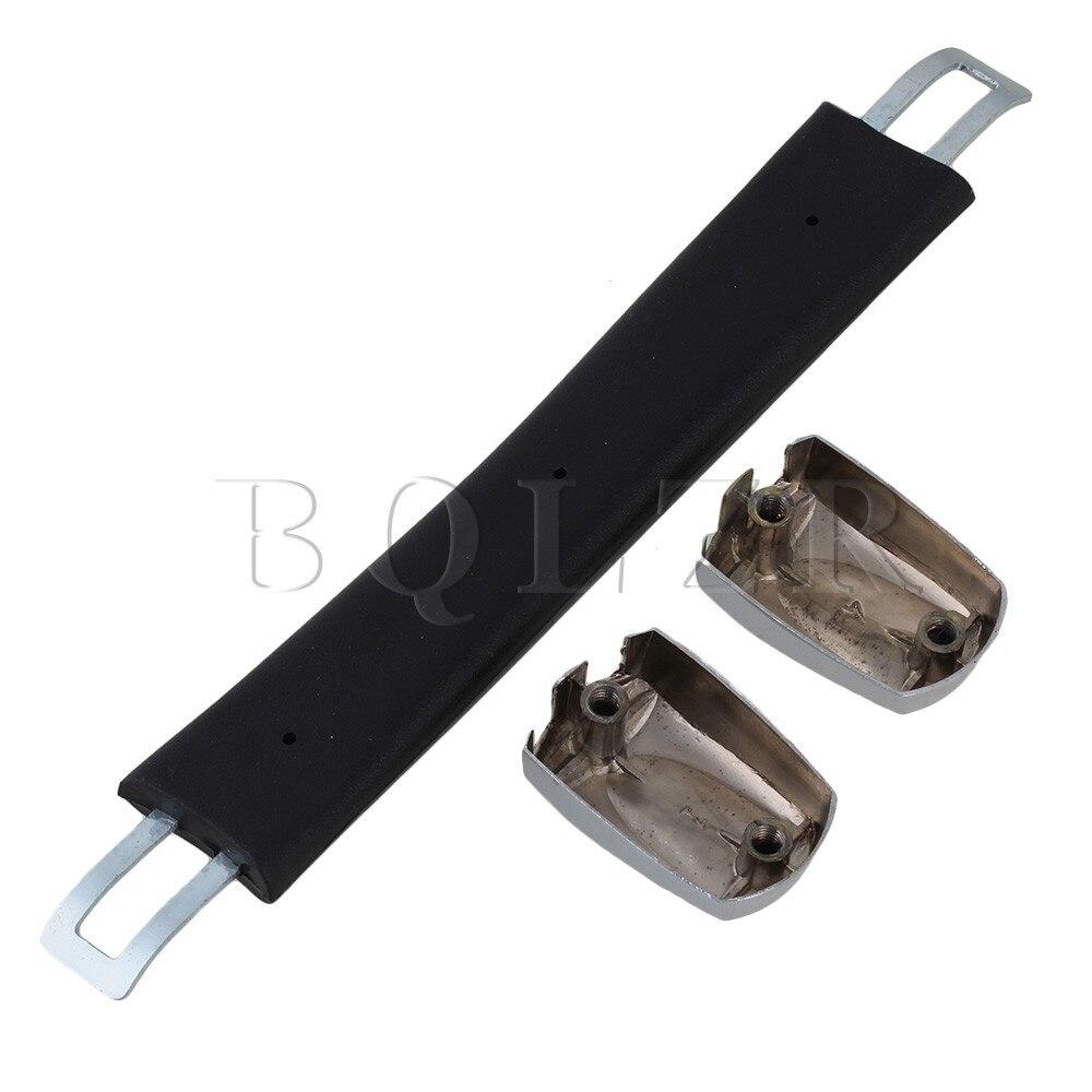 BQLZR Luggage Carry Plastic B003 Handle with Screws Caps 16cm Black Handle