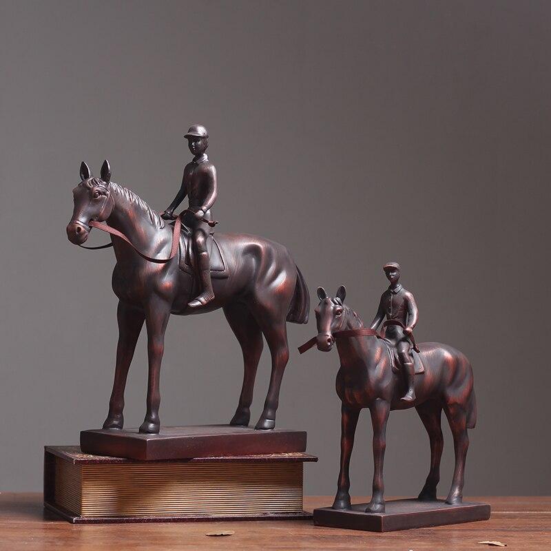 Chevaliers médiévaux guerriers chevaux soldats Figurines 1 PC résine statique modèle Figurines jouant sur des châteaux de sable décor à la maison