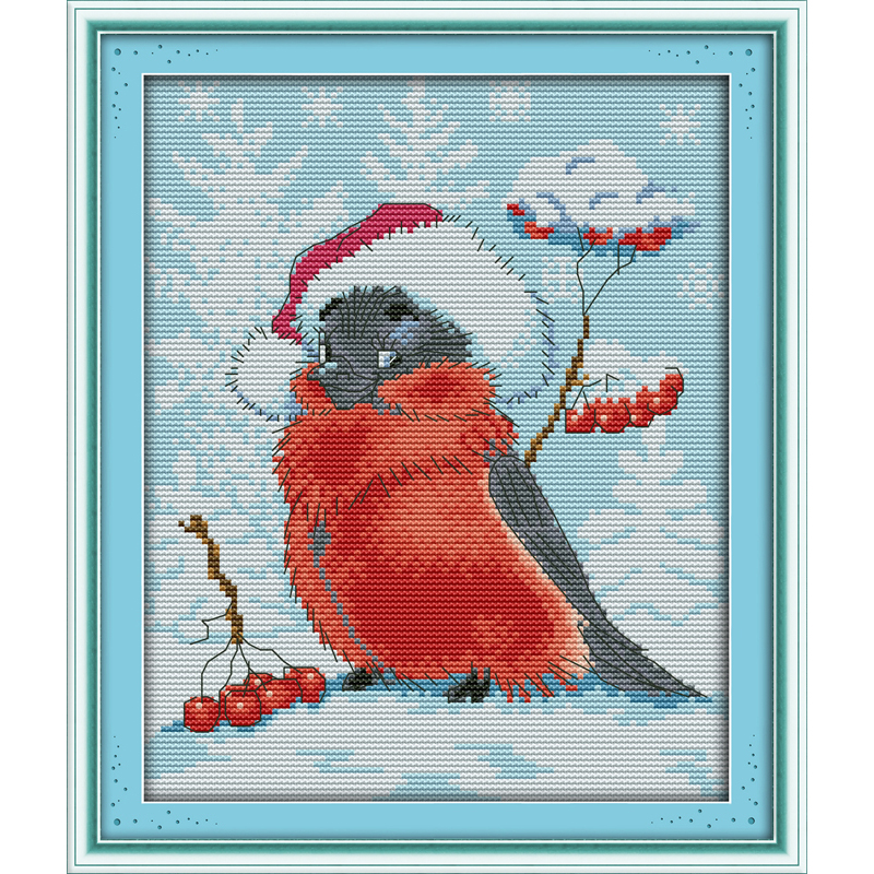 Everlasting love Christmas bird Ecological cotton Chinese cross stitch kits counted stamped 14CT 11CT new year sales promotion