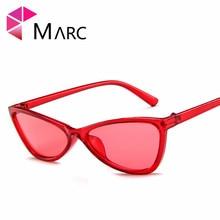 MARC sunglasses Plastic women fashion personality Transparent trend UV400 Red classic Cat eye Resin Wrap Leopard P