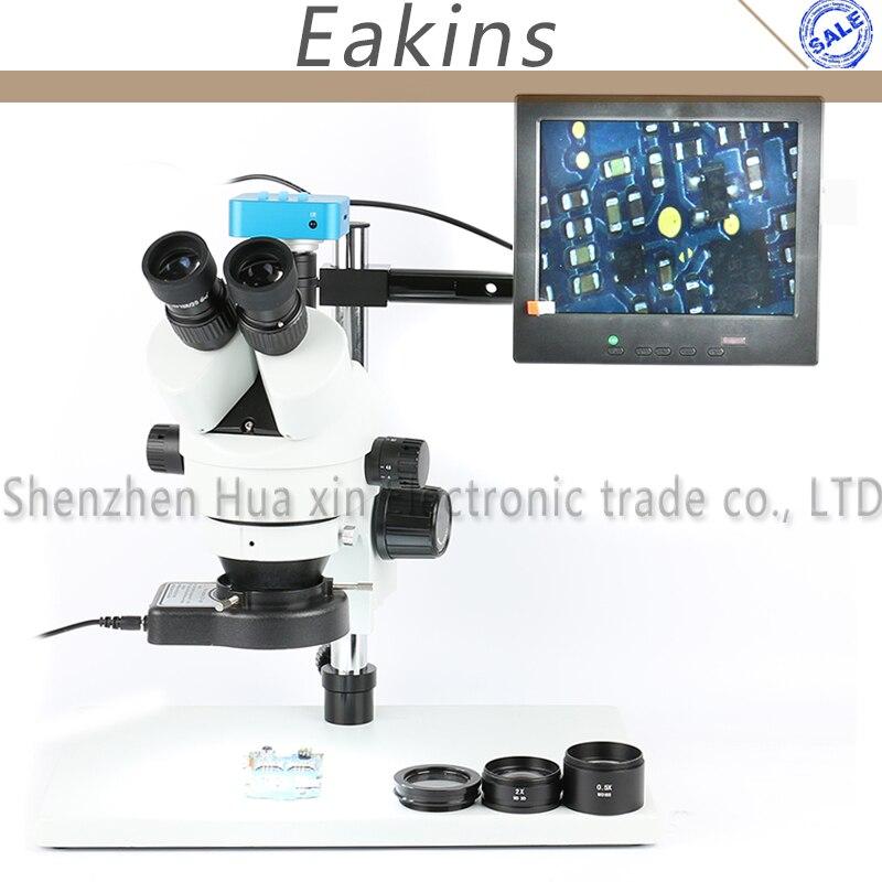 3.5X-90X Simul фокусных расстояний 16MP HDMI USB цифровой промышленных Камера Тринокулярный Стерео микроскоп для телефона Процессор ремонт