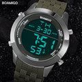 men sport watches military digital watches LED display rubber strap wristwatches BOAMIGO brand luxury gift clock reloj hombre