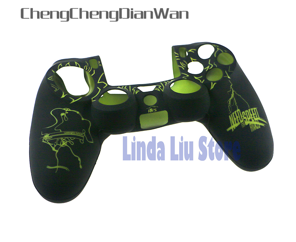 ChengChengDianWan New arrival Silicone Case Skin Grip Cover For ps4 wireless controller 10pcs/lot