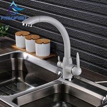 Новинка Кухня чистой воды смеситель бортике Двойной Ручки горячей и холодной воды краны