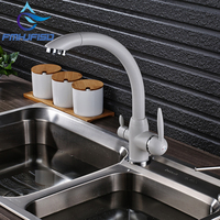New Arrival Kitchen Pure Water Mixer Faucet Deck Mounted Dual Handles Hot Cold Water Taps