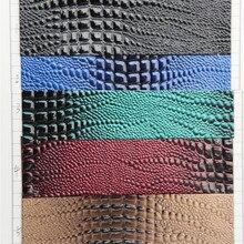 Синтетическая искусственная кожа высокого света крокодиловая кожа гладкая для сумок, обуви, ремня, дома, музыкальные инструменты, мебель