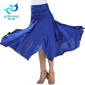 Image 3 - Darmowa wysyłka Ballroom Waltz spódnice do tańca nowoczesne standardowe Tango Salsa Samba Rumba praktyka kostiumy elastyczny pas #2547