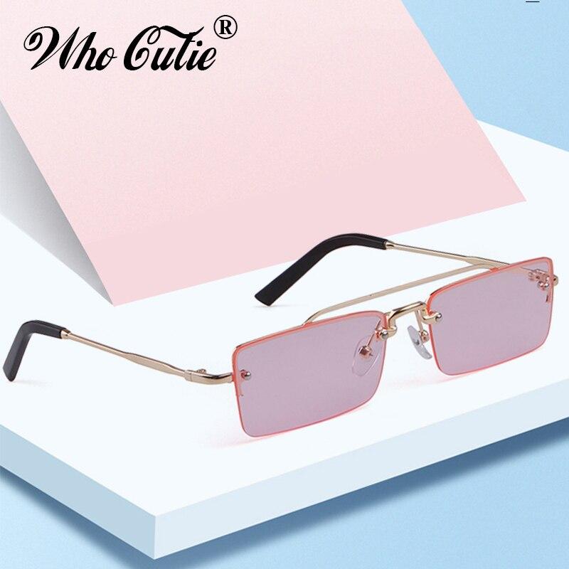 Vintage Rectangular Sunglasses Women 2019 Brand Designer