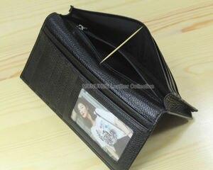 Image 5 - 工場出荷時の価格牛革本革メンズ財布ロングクラッチバッグ本革財布財布コイン袋マネークリップ黒 WL004