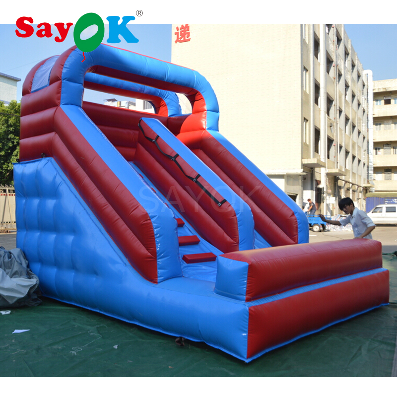 Customized Inflatable Stair Slide Inflatable Double Lane