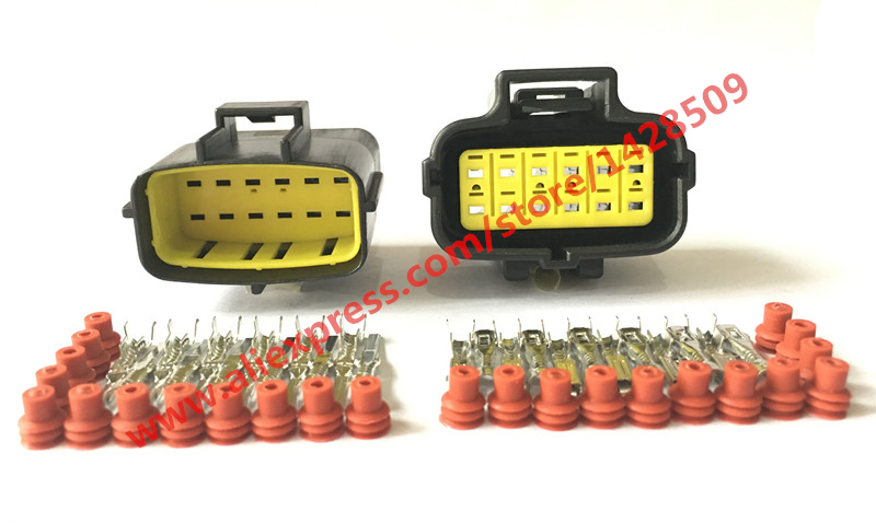20 Sets 12 Pin Female Male Denso 174661 2 184058 1 368537 1 Waterproof Automotive Electrical