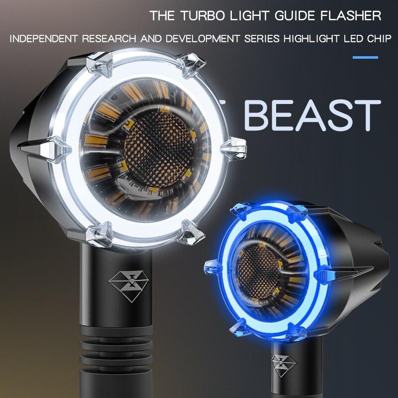Moto clignotants modifié étanche LED décoratif Accessoires feux de Signalisation moteurs feux diurnes livraison gratuite