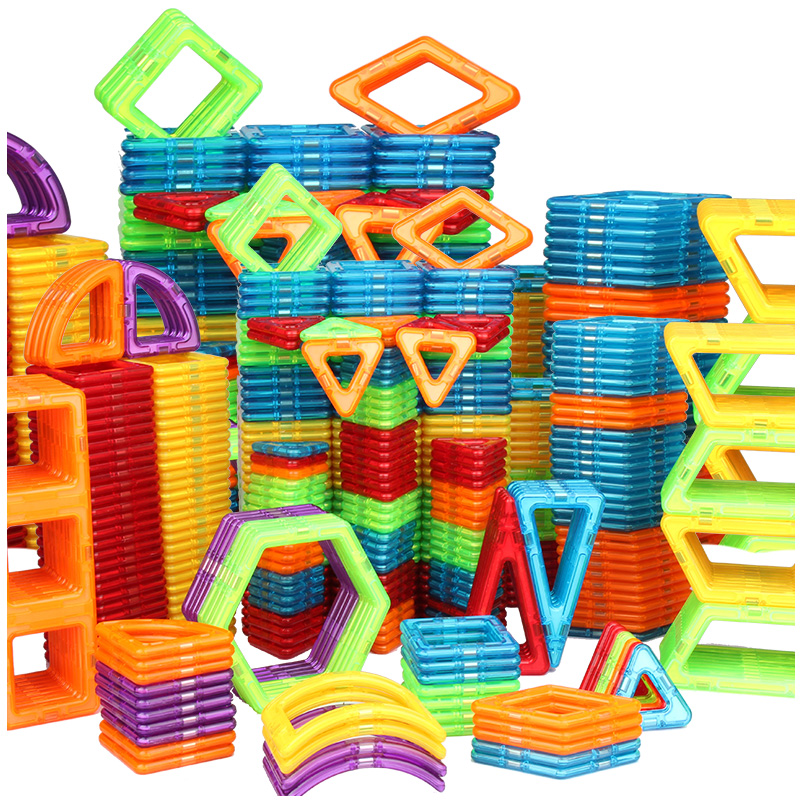 Medium Size 96 PCS Magnetic Blocks Colorful Magnet Building Blocks Educational Magnetics Sets Learning Toys For Kids Children