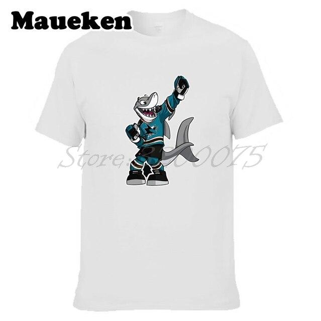 brand new 0535f 4672f US $18.88  Aliexpress.com : Buy Men T shirt San Jose Men Sharks S.J.  Sharkie Clothes Short Sleeve T SHIRT Men's Fashion W0225010 from Reliable t  shirt ...