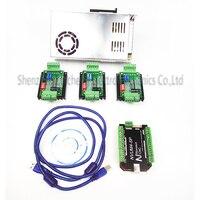top gradeCNC mach3 USB 4 Axis Kit, 4pcs TB660 0stepper driver+ mach3 USB stepper motor controller boar power supply
