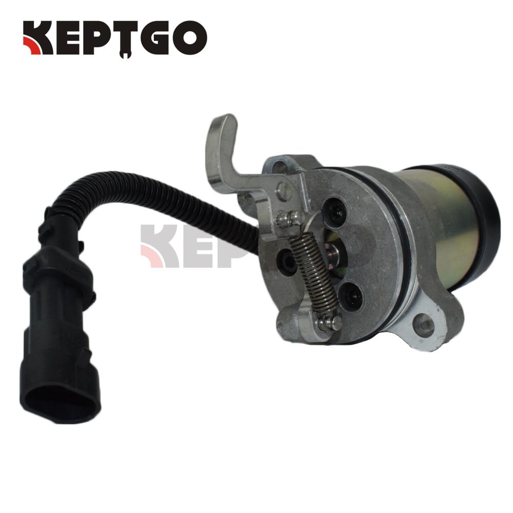 12v Fuel Shutoff Solenoid 0410 3808 / 04103808 For Bobcat 863 864 873 883 3924450 2001es 12 fuel shutdown solenoid valve for cummins hitachi