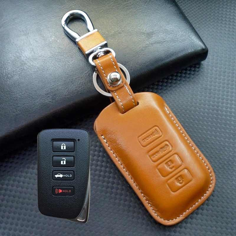 1Pack Leather Key Chain Suit for Lexus ES350 GS350 2016-2013 GS300h GS450h Keyring Genuine Leather Car Logo Keychains for Men and Woman with Logo key lanyard